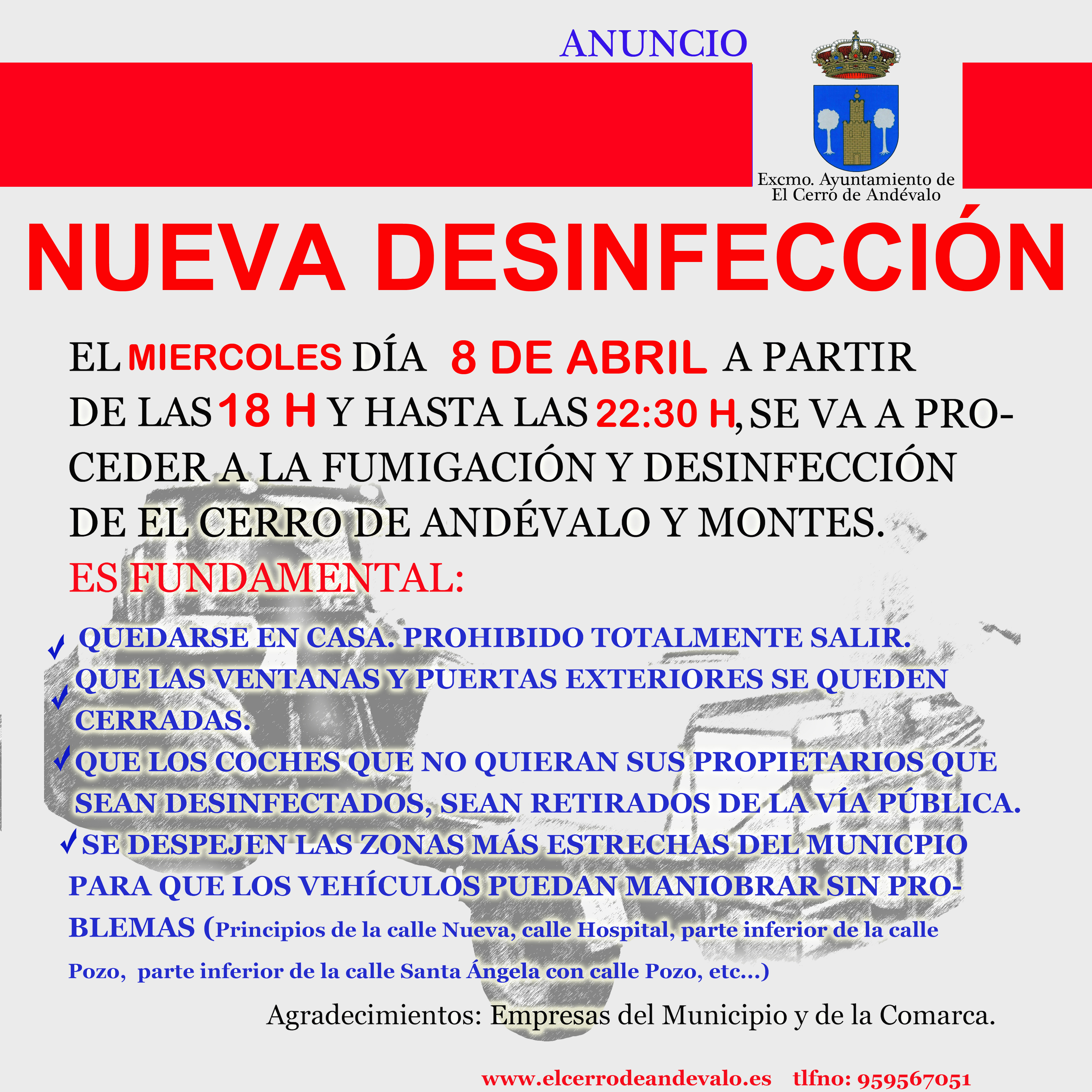 DESINFECCION dia 8 DE ABRIL