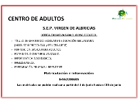 OFERTA EDUCATIVA CENTRO DE ADULTOS