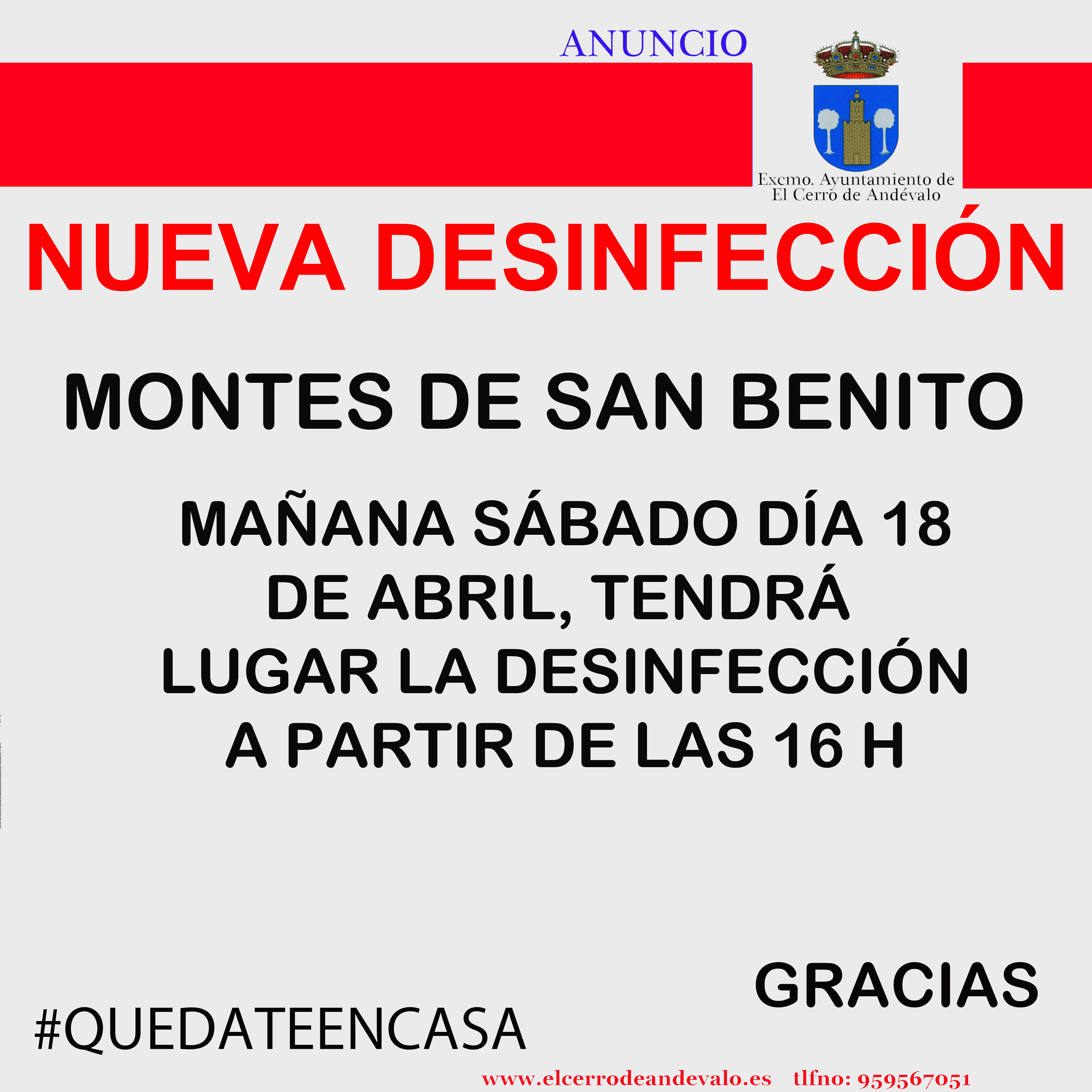 DESINFECCION MONTES 18 DE ABRIL